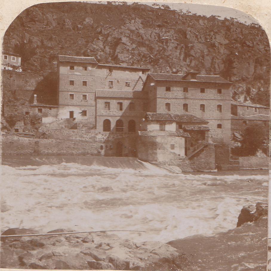 Parador del Macho y Molinos de San Servando hacia 1900. Colección Luis Alba.