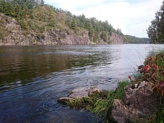 Upstream of Recollet Falls