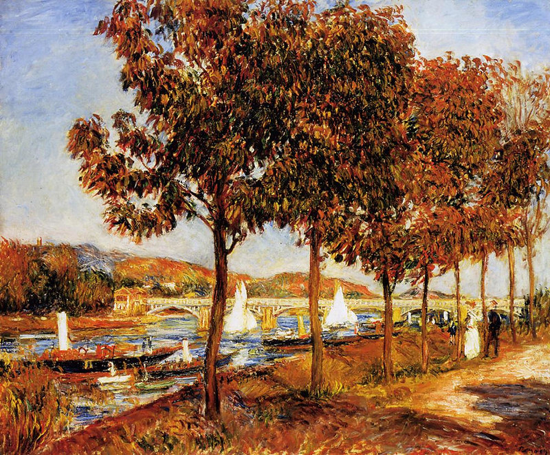 The Bridge at Argenteuil in Autumn by Pierre Auguste Renoir, 1882