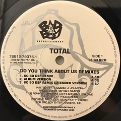 TOTAL:DO YOU THINK ABOUT US(LABEL SIDE-A)