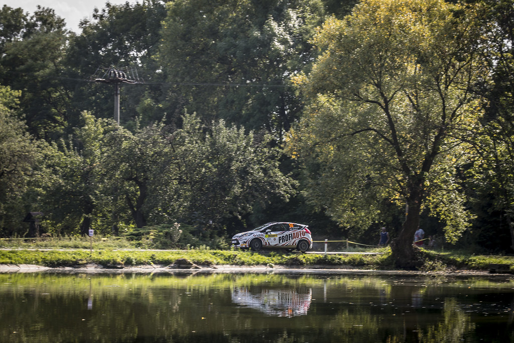 50 TOMASZCZYK Jerzy (POL) KOZDRON Kamil  (POL) Ford Fiesta R2 actionduring the 2017 European Rally Championship ERC Barum rally,  from August 25 to 27, at Zlin, Czech Republic - Photo Gregory Lenormand / DPPI