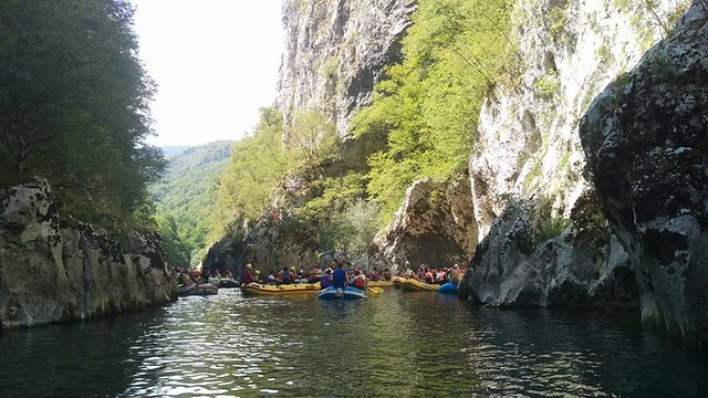Rafting on the Neretva first