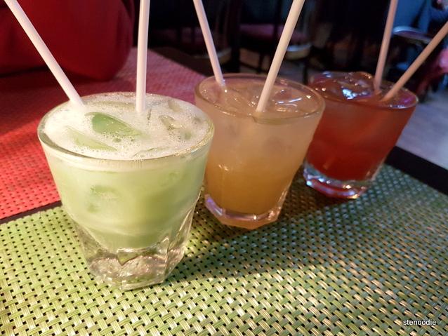 Gaitor Bait, Hurricane, Cajun Caesar cocktails