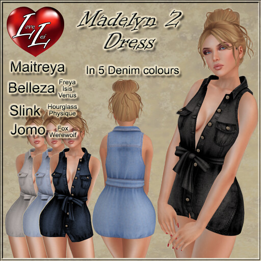 Madelyn 2 Shirt Dress - SecondLifeHub.com