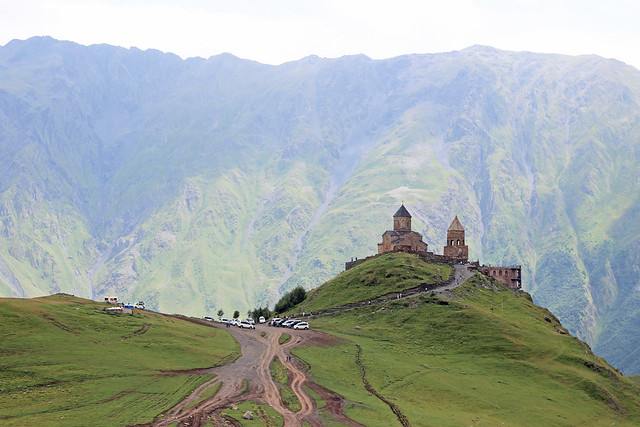 Gergeti Trinity Church. Kazbegi, Georgia