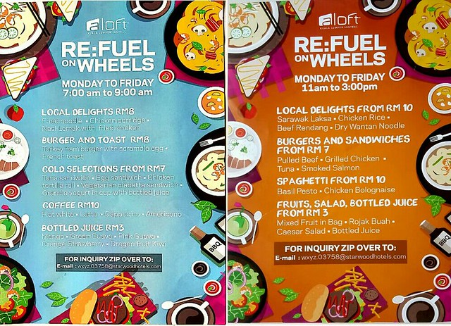 Re:Fuel on Wheels by Aloft Kuala Lumpur Sentral - Menu