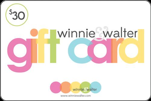 Winnie & Walter #30 Gift Card