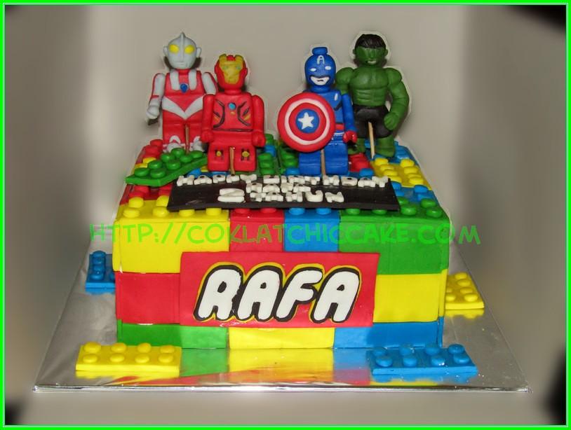 cake lego superhero