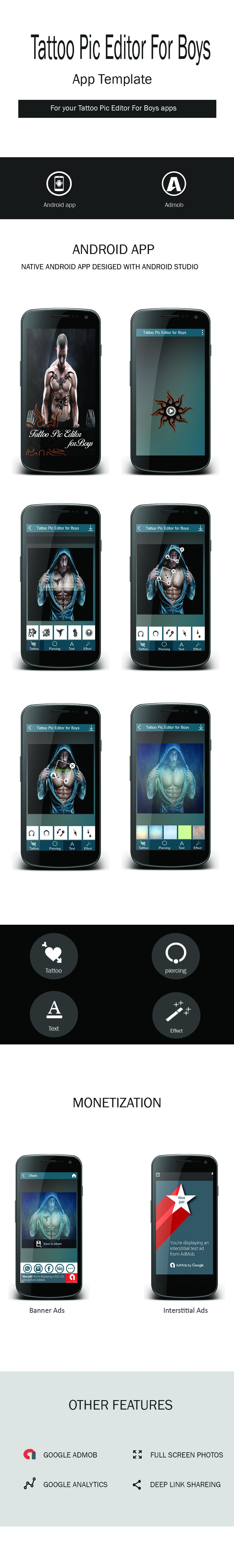 Tattoo Pic Editor for Boys (Photo Editing App) - 1