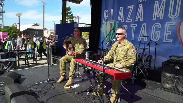 VIDEO  Australian Army Band duo at Brisbane EKKA