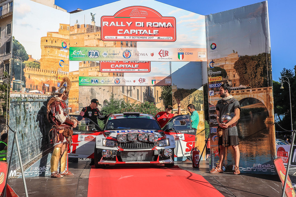 10 GRYAZIN Nikolay (LVA) FEDOROV Yaroslav (RUS) Skoda Fabia R5 start during the 2017 European Rally Championship ERC Rally di Roma Capitale,  from september 15 to 17 , at Fiuggi, Italia - Photo Jorge Cunha / DPPI