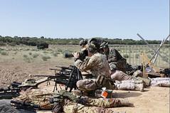 El general jefe de la División 'Castillejos' comprueba la preparación de nuestros tiradores de élite en el ejercicio 'LongPrecision'