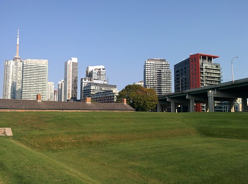 At Fort York underneath the city (9) #toronto #fortyork #skyline #tower #gardinerexpressway