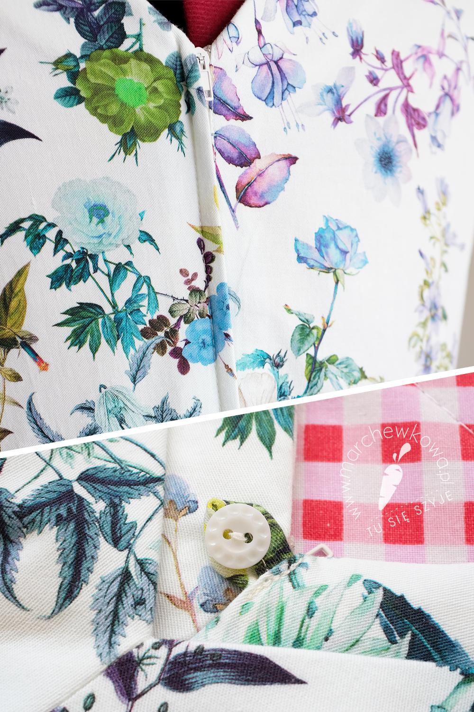 marchewkowa, blog, szycie, sewing, rękodzieło, handmade, moda, styl, vintage, retro, repro, 1950s, 1960s, Wrocław szyje, w starym stylu, Simplicity 5958, rekonstrukcja, sukienka, dress, flower print, cotton satin