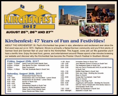 Kirchenfest 2017 8-25, 8-26-17