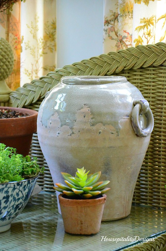 Faux succulent-Ceramic urn-Housepitality Designs