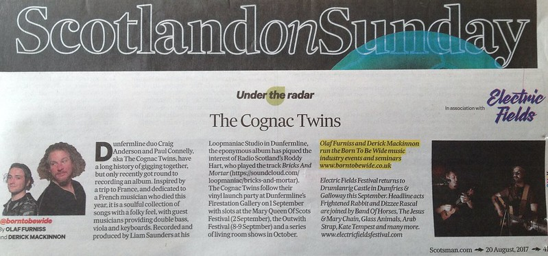 Scotland On Sunday, 20 August 2017, The Cognac Twins