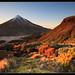 Mt Taranaki from the pouaki range