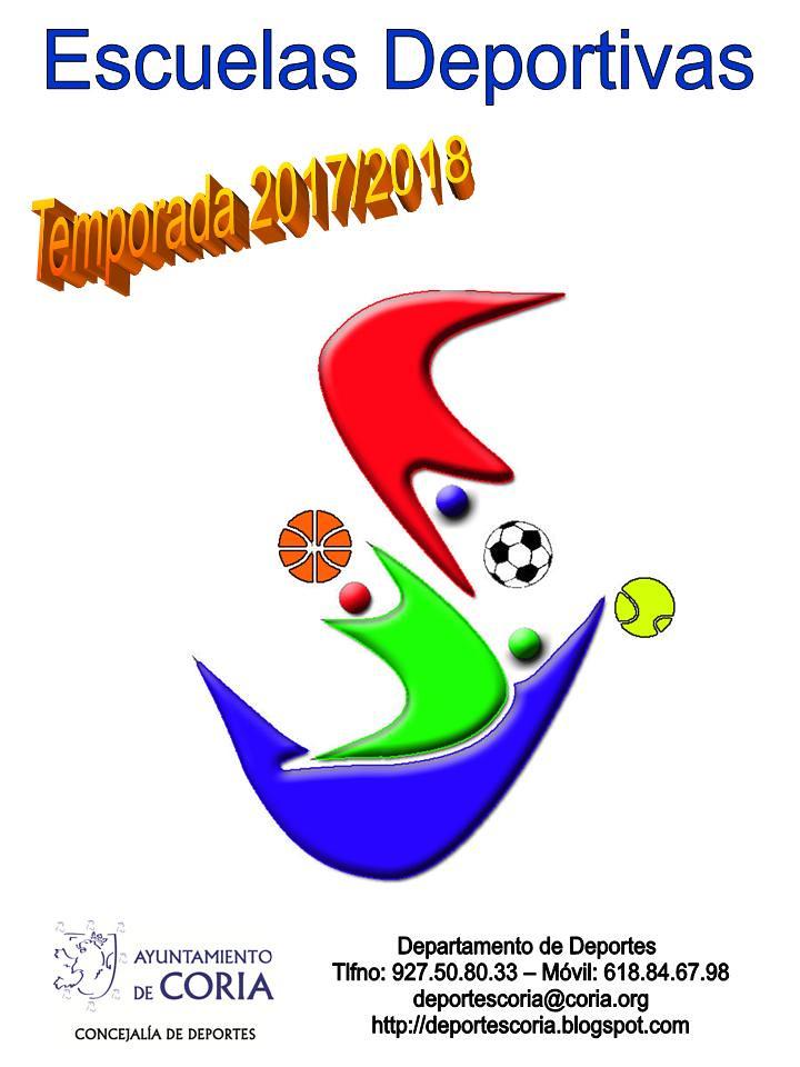 Escuelas Deportivas en Coria. Temporada 2017/2018