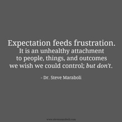 """Best Positive Quotes : """"Expectation feeds frustration. It is an unhealthy attachment to people, things,…"""