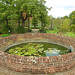 The walled garden pond at Bressing Temple Barns, Essex