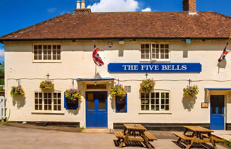 The Five Bells pub in Nether Wallop, Hampshire. Credit Anguskirk, flickr