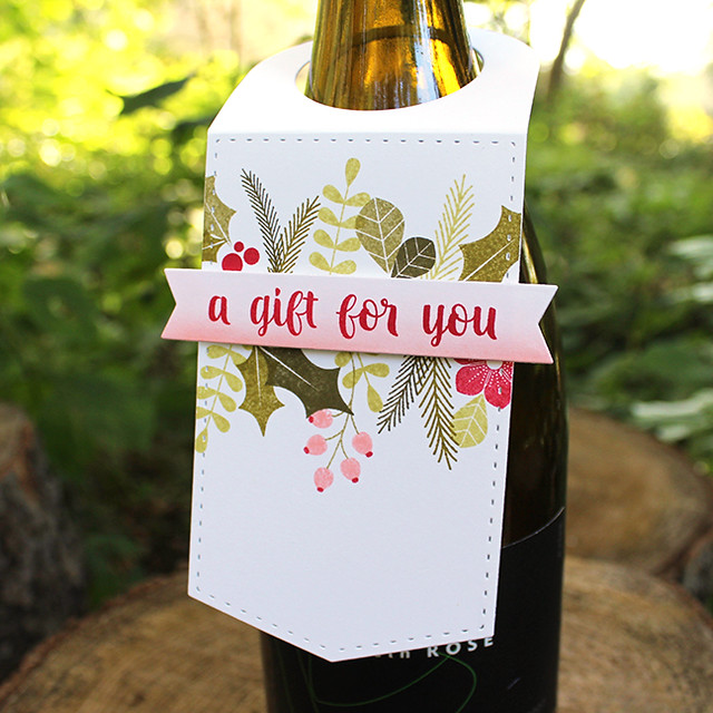 A Gift For You Wine Bottle Tag