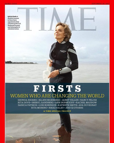 ICYMI: @dukealumni Sylvia Earle is featured on the cover of @time magazine as the first woman to become chief scientist of @noaa. #sheisthefirst #dukealumni #forverduke #dukeresearch #womeninSTEM