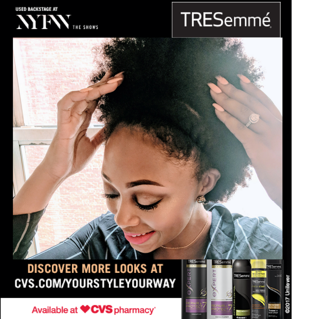 tresemme used backstage at nyfw