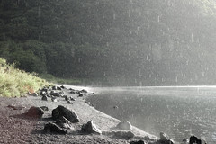 The moment when sunny and rain intersect