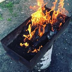 Могу смотреть вечно на #огонь у нас #праздник #ура #шашлык #воскресенье #осень #теплаяосень #актер #левин #левиналександр #актеры #шашлык