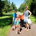 Family headed for the beach by Lars Plougmann