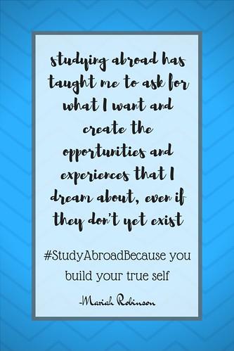 Mariah Robinson: #StudyAbroadBecause You Build Your True Self