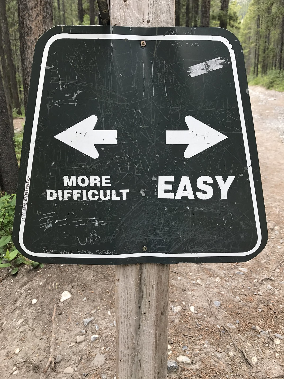 Grassi Lakes trail more difficult or easy trails