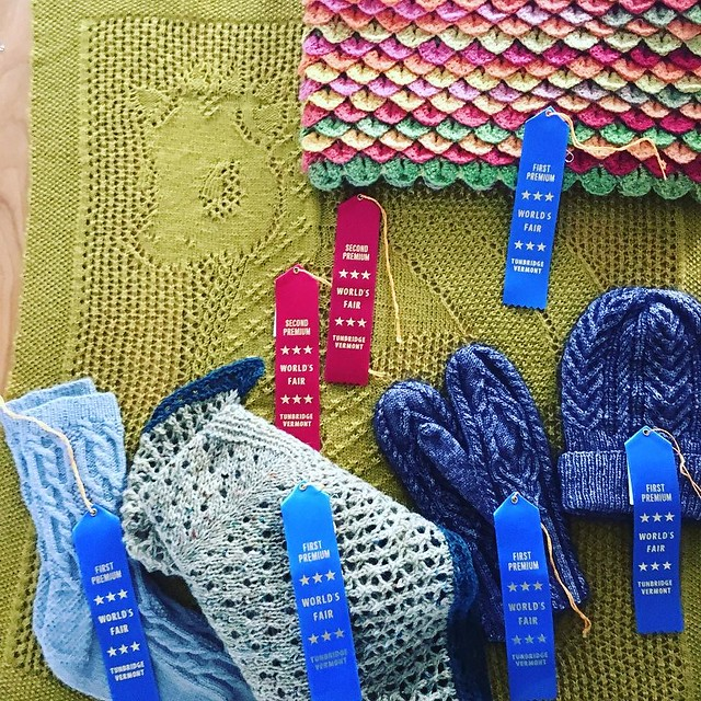 My ribbons from the fair this past weekend. Didn't enter as much as I have in the past. Better start working on next year's entries...