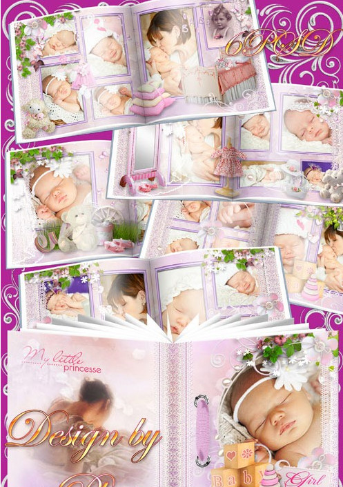Photobook for Photoshop in PSD format – our daughter