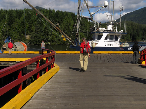 The wharf in Ucluelet