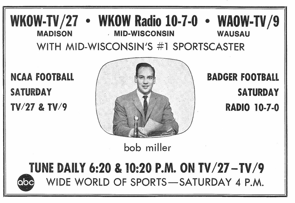 Bob Miller, WKOW Madison, WI 1969 | Ad from a 1969 Wisconsin