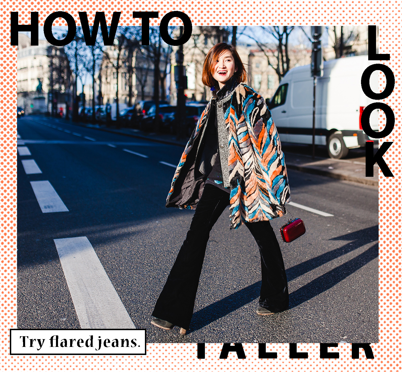 Flared-jeans-to-look-taller
