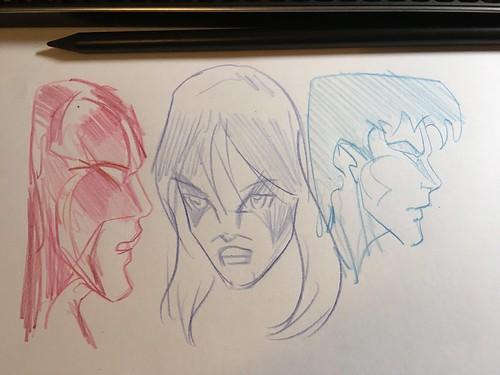 Conte coloring pencils