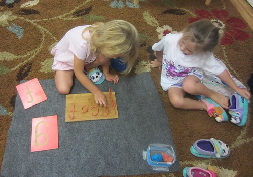forming letters with clay