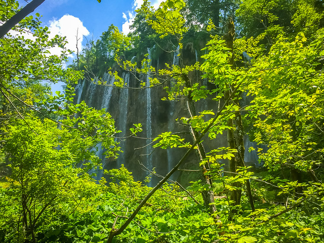 A Hidden Waterfall At Plitvice Lakes National Park