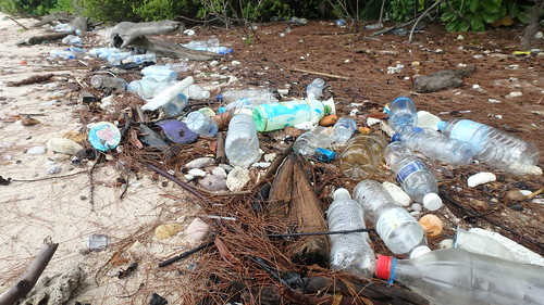 Marine trash on Pulau Tekukor