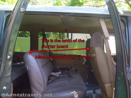 How to measure for the length of the shorter board for a van bunkbed