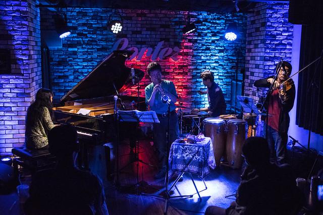 Satoko Fujii Quartet live at Cortez, Mito (Japan), 19 Aug 2017 -7M2-00009