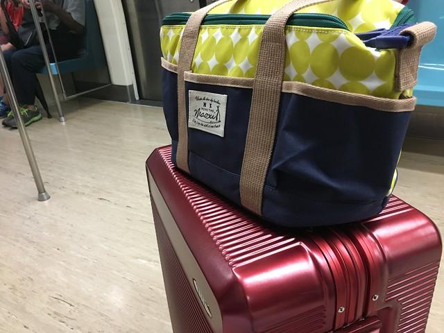 上面可以掛袋子@ELLE花苑盛典25吋行李箱