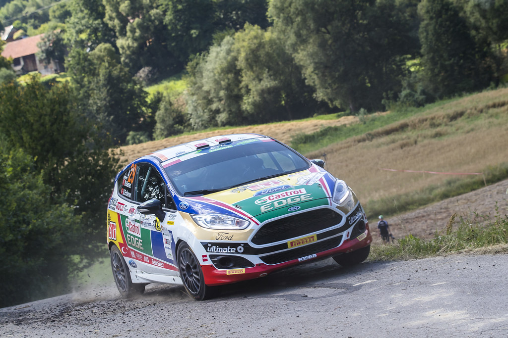 29 BANAZ Bugra (TUR) ERDENER Burak (TUR) Ford Fiesta R2 action during the 2017 European Rally Championship Rally Rzeszowski in Poland from August 4 to 6 - Photo Gregory Lenormand / DPPI