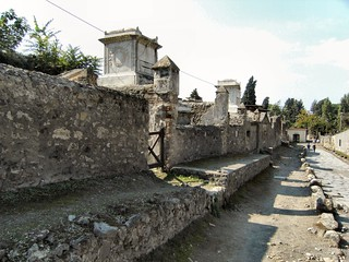 Street of the Dead. Pompeii