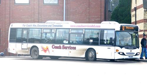YN03 UWK 'Coach Services' Scania CN94UM OmniCity on 'Dennis Basford's railsroadsrunways.blogspot.co.uk