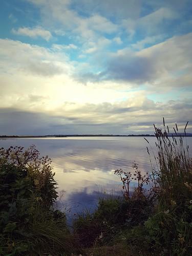 lake laugarvatn laugardalur iceland water reflection sunrise clouds oeiriks